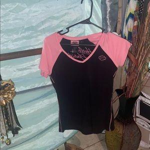 😴 Black and pink Harley shirt